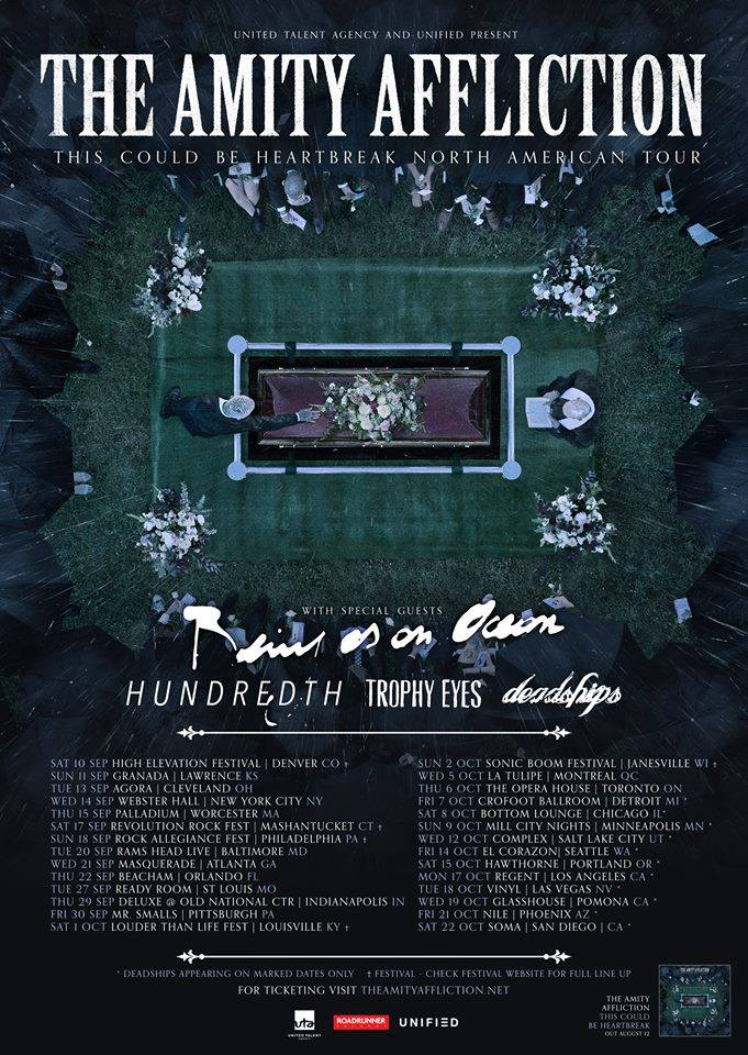 The Amity Affliction - This Could Be Heartbreak North American Tour - poster