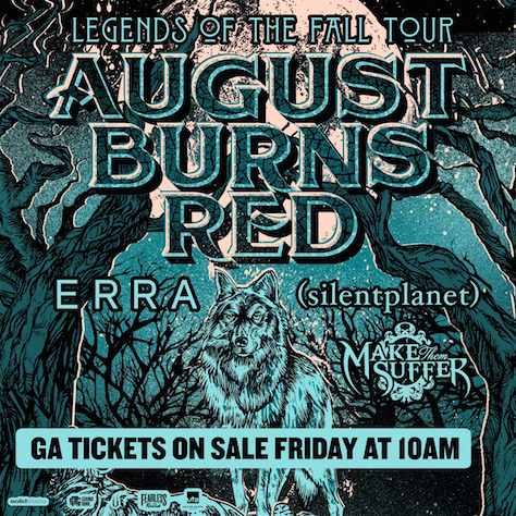 August Burns Red - Legends of the Fall Tour - poster