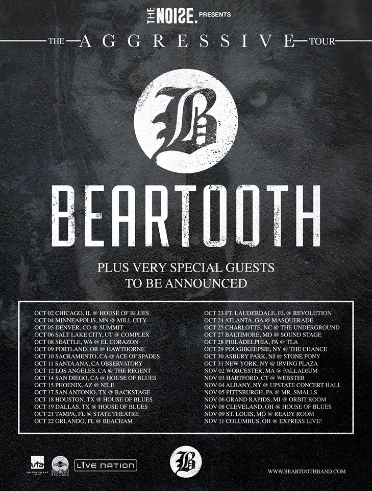 Beartooth - The Aggressive Tour - poster