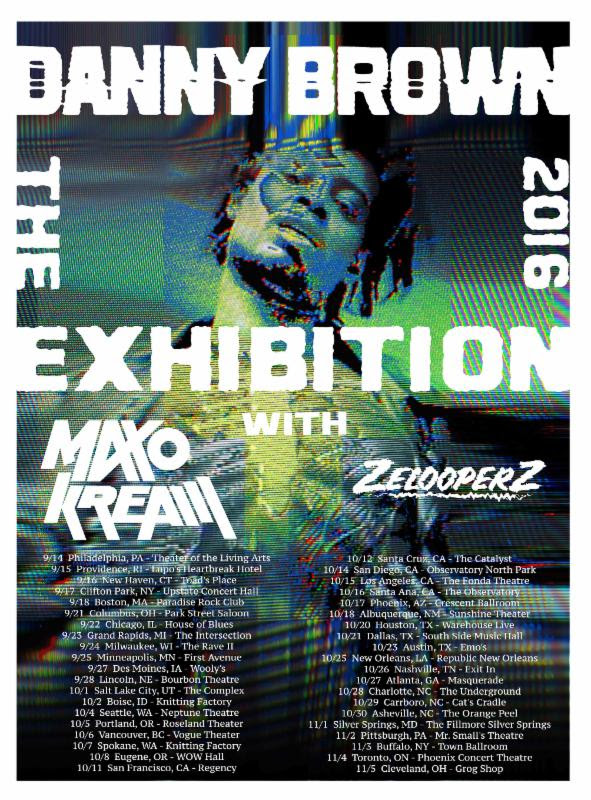 Danny Brown - North American The Exhibition Tour - 2016 Tour Poster
