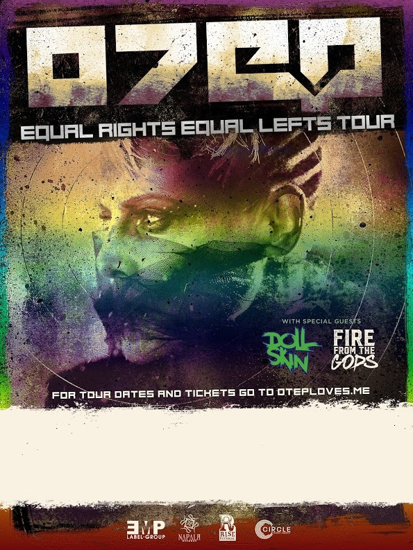 Otep - U.S. Equal Rights Equal Lefts Tour - 2016 Tour Poster