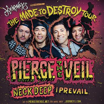 Pierce The Veil - The Made To Destroy Tour - poster