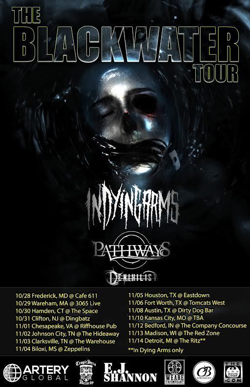 in-dying-arms-the-blackwater-tour-poster
