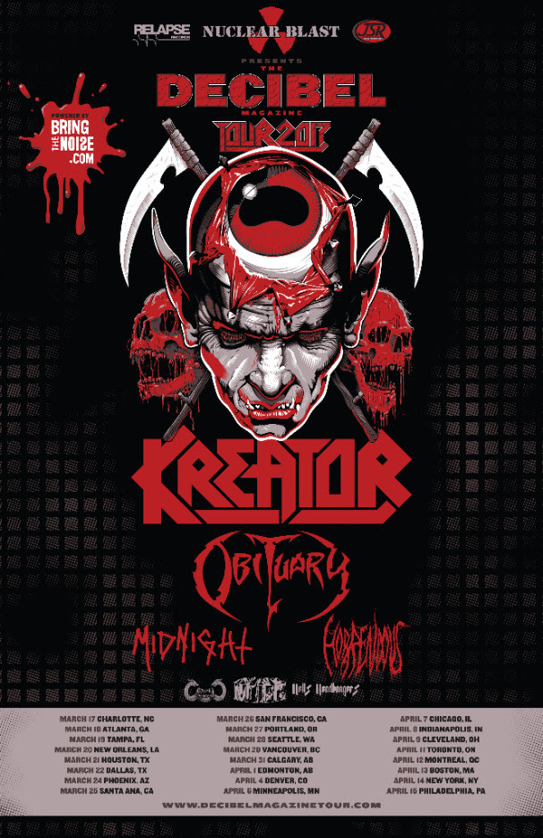 Kreator - North American The Decibel Magazine Tour - 2017 Tour Poster