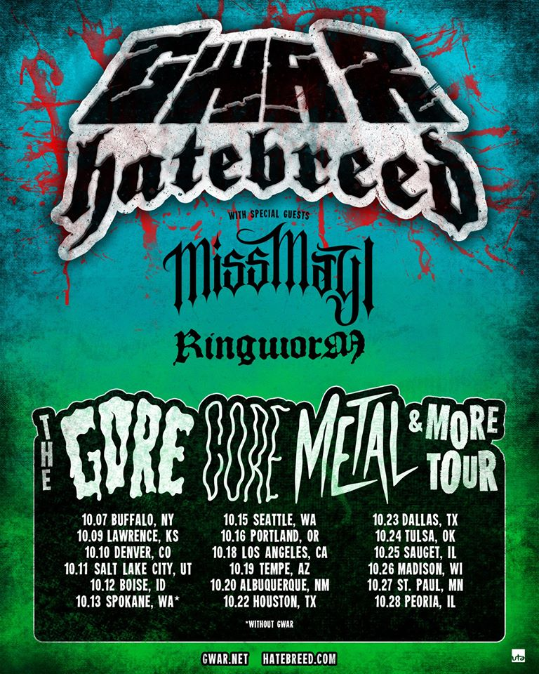 the gore core metal & more tour