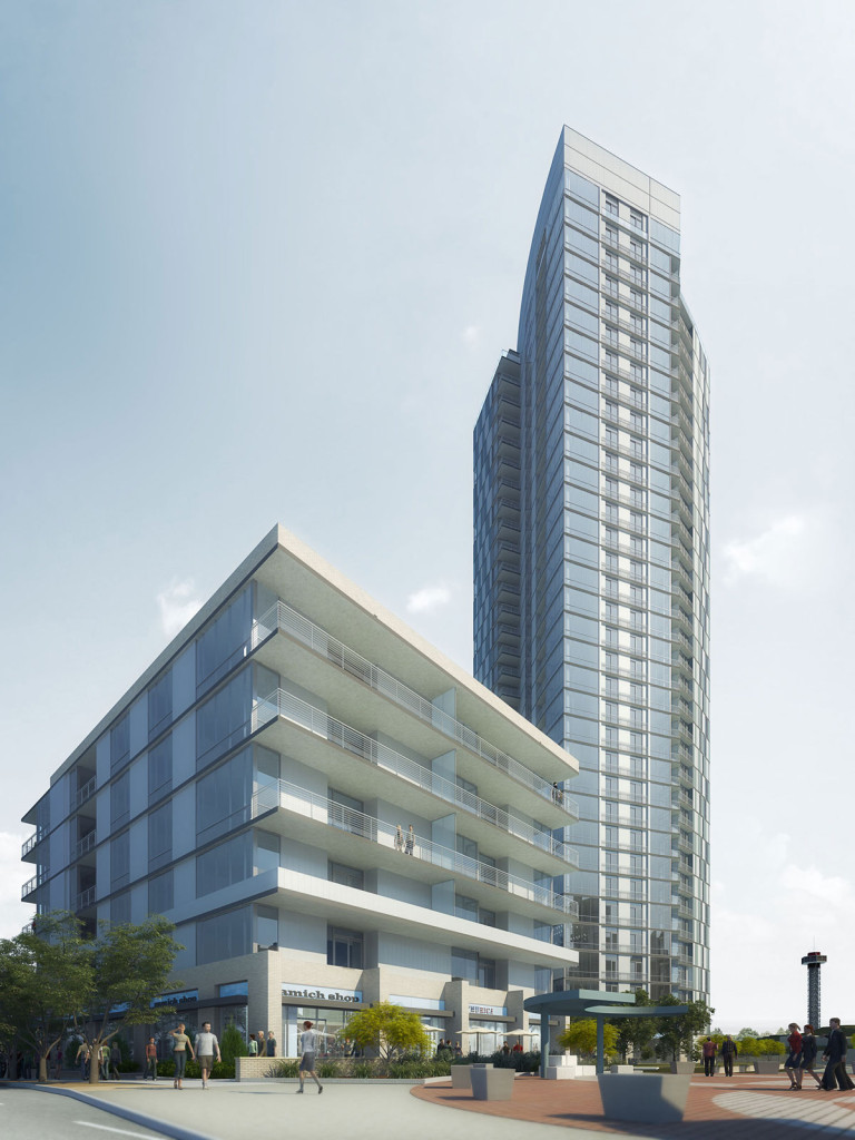 Rendering of The Confluence. Courtesy PM Realty Group.