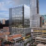 Downtown Denver office tower begins vertical ascent
