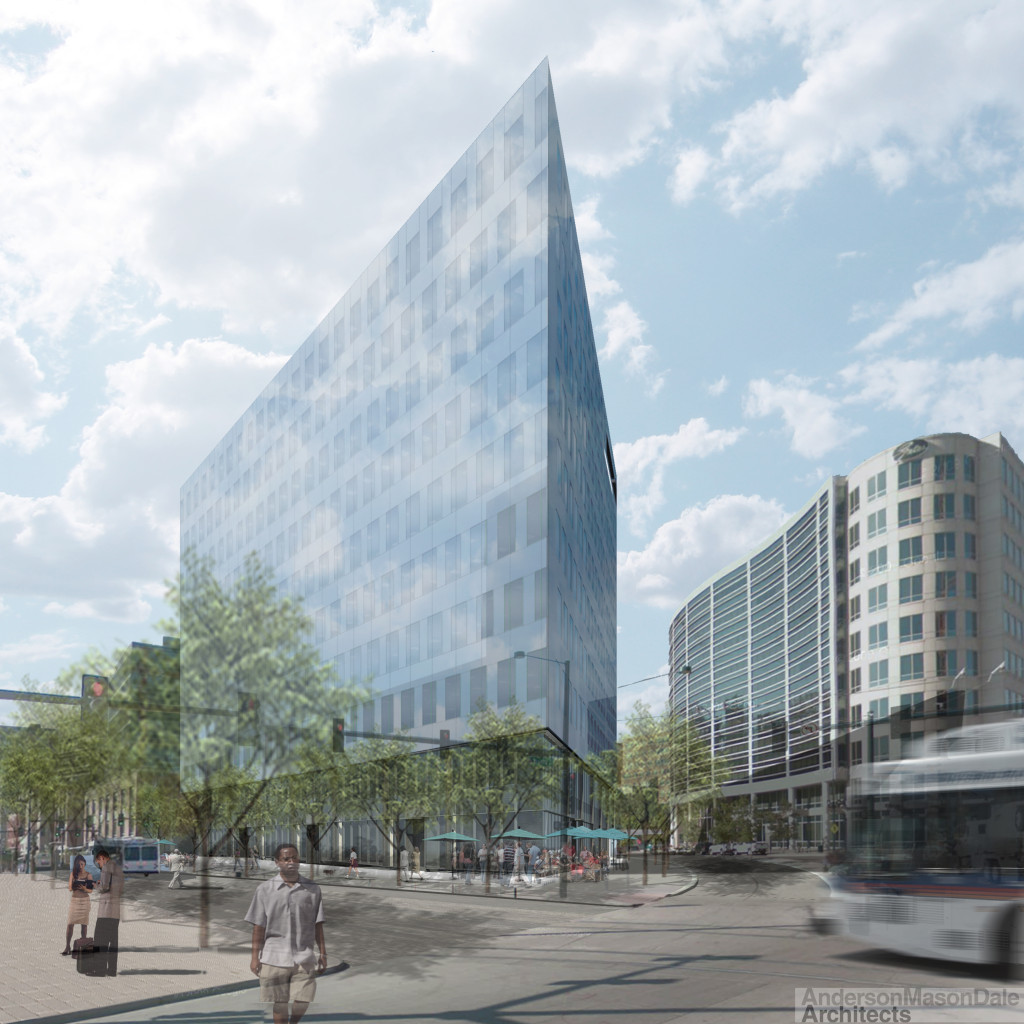 Rendering of the Triangle Building. Courtesy Newmark Grubb Knight Frank