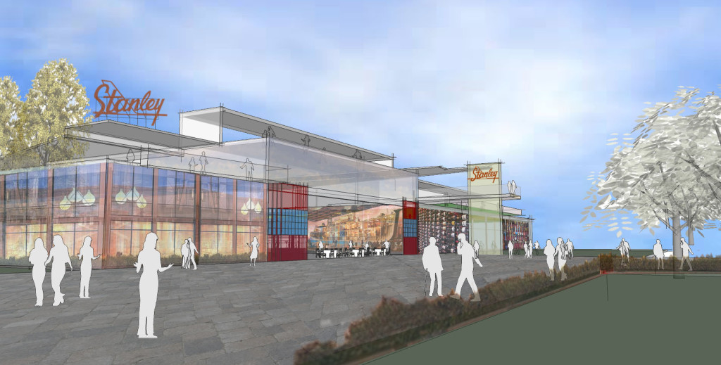 Rendering of the redeveloped Stanley Marketplace slated to open fall of 2015