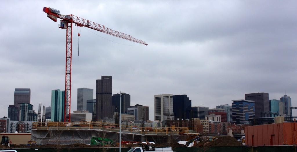 The Crossing at Dengaro Market under construction. Feb. 2015 Denver Urban Review