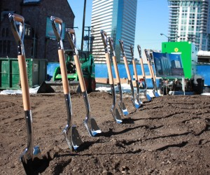 SkyHouse Denver ground breaking. Feb. 17, 2015