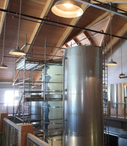 The ceilings were designed to pay homage to European brew houses.