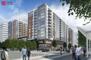 17W with Whole Foods shown in this rendering courtesy Davis Partnership Architects.