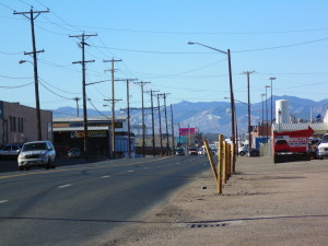 Photograph of the current streetscape along Brighton Boulevard. Image courtesy City and County of Denver.