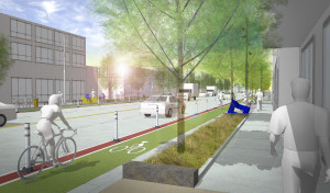 Rendering of Brighton Boulevard. Image courtesy City and County of Denver.