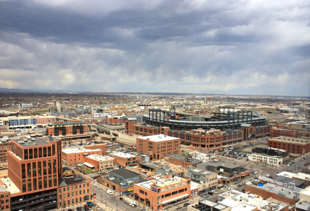 Photography showing Coors Field looking towards the northeast.