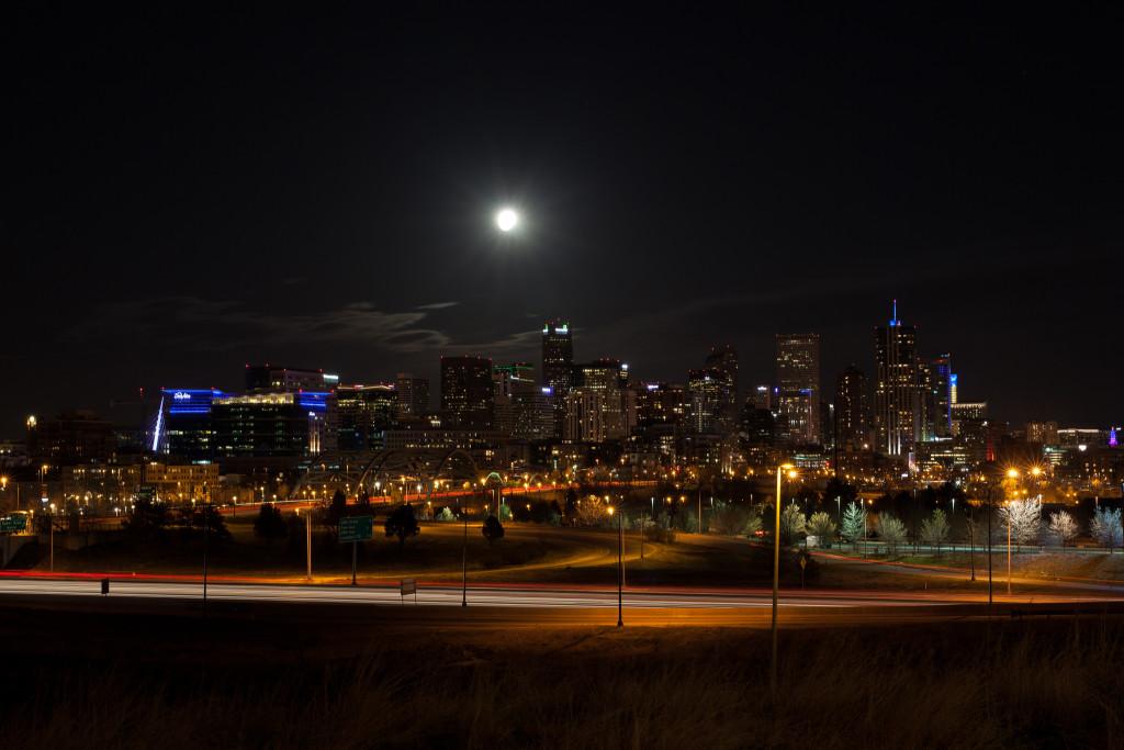 Denver skyline from Speer Boulevard and Zuni. Photo Credit: Urban Safari Photography