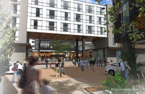 Rendering of the Hilton Garden Inn Boulder. Image courtesy Sage Hospitality.