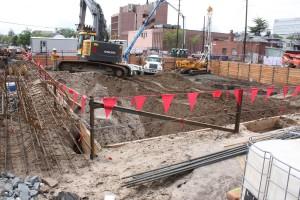 Construction of apartments at 7th and Sherman May 2015.
