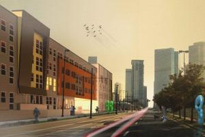 Rendering of 2300 Welton. Image courtesy Humphries Poli Architects.