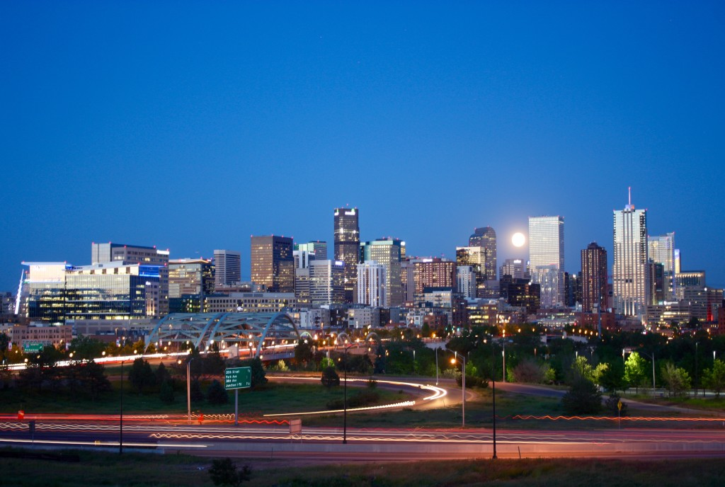 Denver Skyline from Diamond Hill. DUR June 2015.