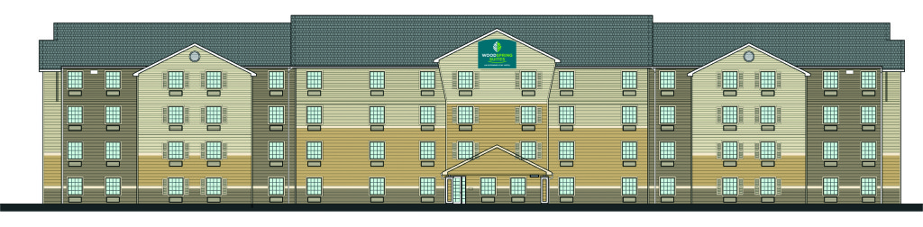 Rendering of WoodSpring Suites courtesy WoodSpring Suites.