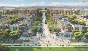 Rendering of planned Peña Station courtesy DIA.
