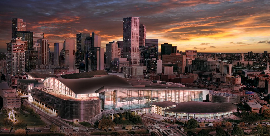 Denver Skyline with expanded convention center