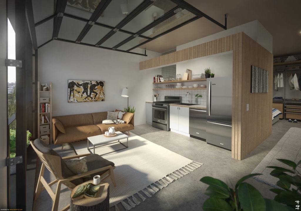 Kabin TAXI Zeppelin Development Dynia Architects