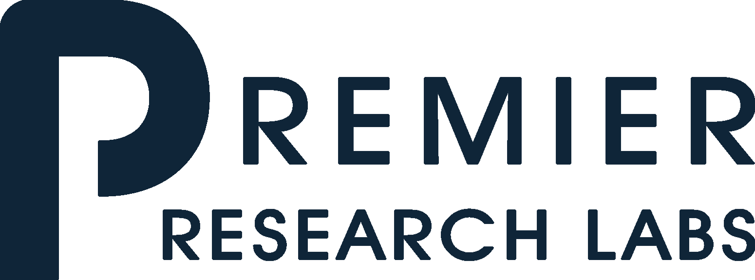 logo for nutritional company premier research labs