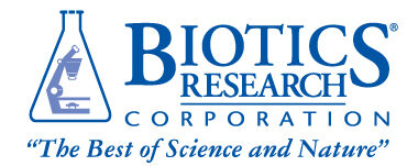 logo for nutritional company biotics research
