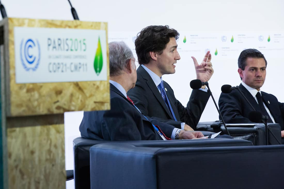 Prime Minister Trudeau takes part in a session on carbon pricing during COP21 in Paris - Courtesy Justin Trudeau via Flickr (© All rights reserved)