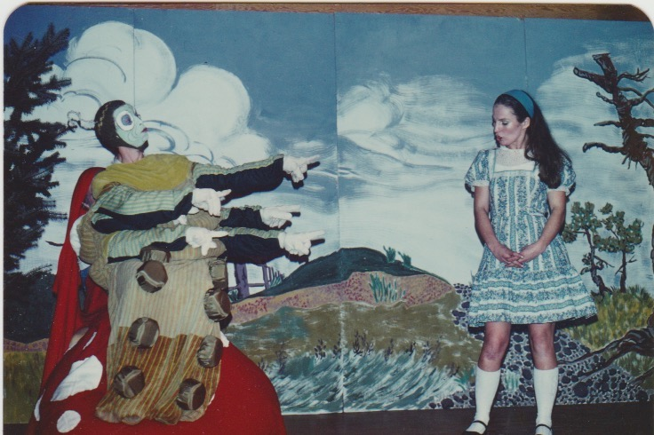 Alice in Wonderland (1978). George Sirk, who went on to become the islands Regional Director from 1996 -2005, was the Hooka Smoking Catepillar. Lella was Alice.