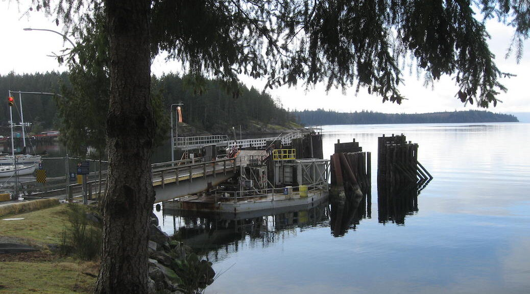 The Whaletown ferry dock