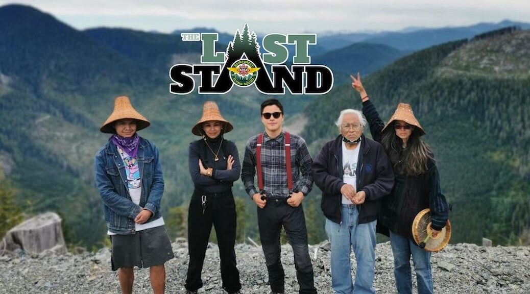 Five first nations people on a bluff