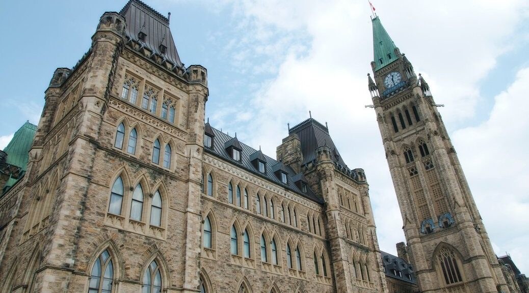 the parliament buildings in Ottawa