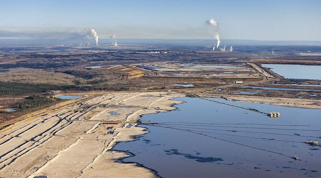 Tailing pond in the Alberta oilsands