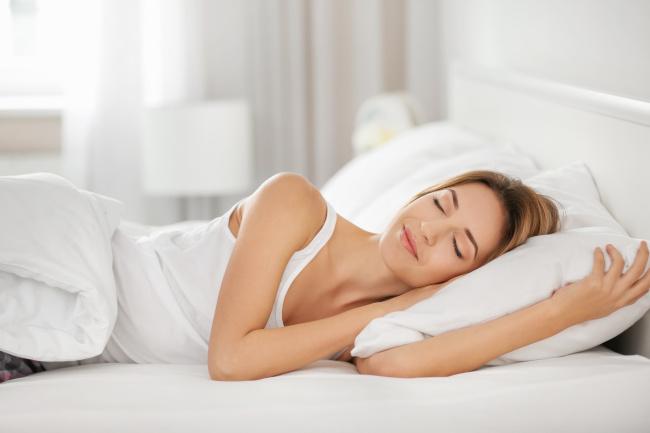 sleeping on a pillow