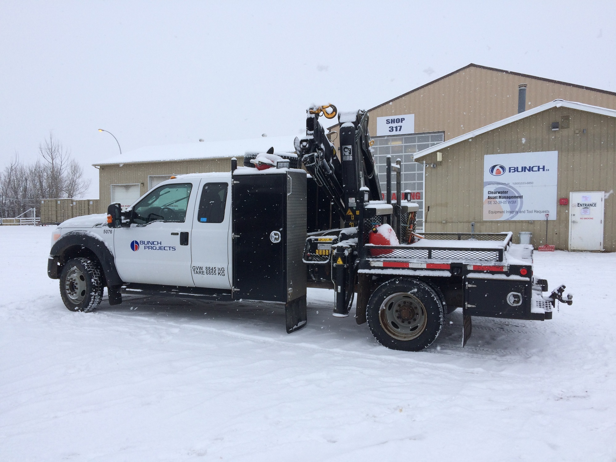 Bunch Picker Truck for Oil and Gas Pipe Spool Fabrication