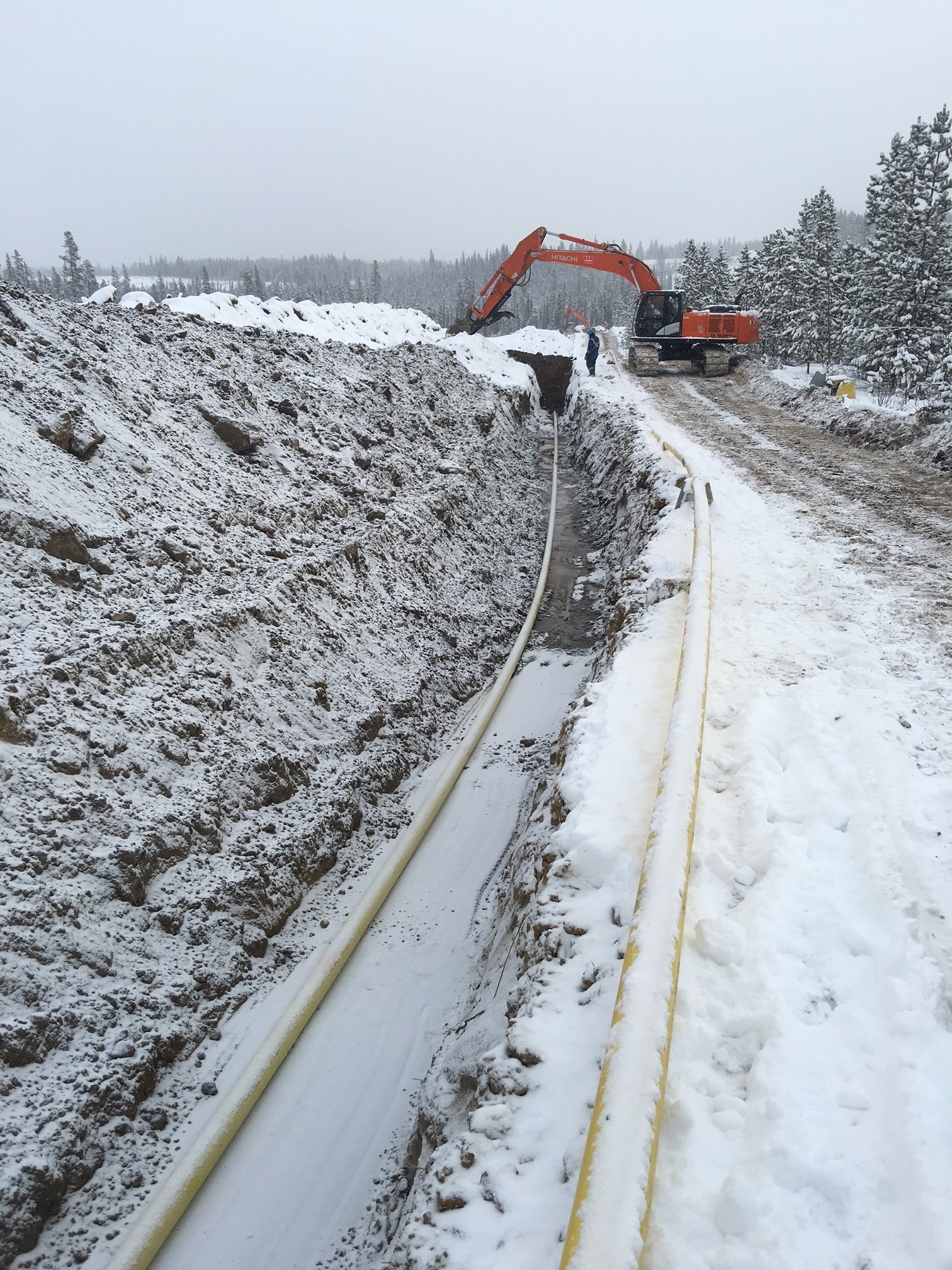 Bunch Pipeline Installation and Construction