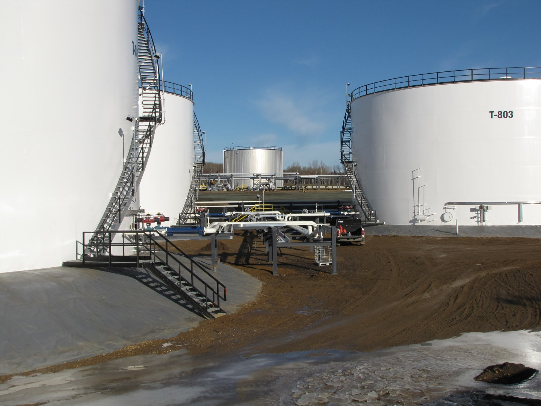 Bunch Tank Farm Construction Alberta