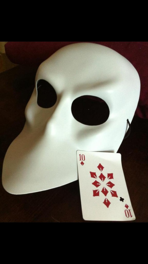 Sleep No More mask and card
