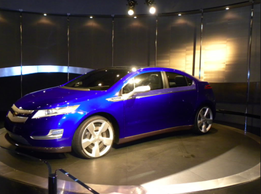 Chevy Volt at Test Track