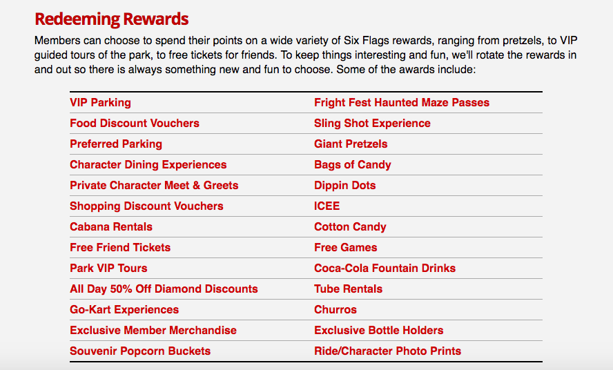Six Flags Adds Rewards Program Earn Points By Going On Rides Theme Park University