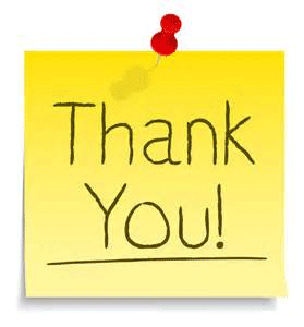 Thank You on post-it note