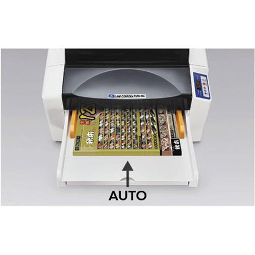 Lami Revo-Office Automatic Laminator close-up of front loading