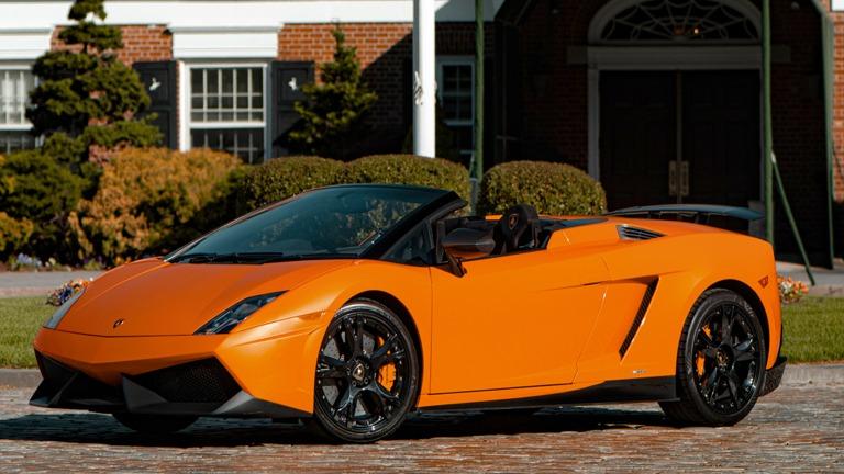 Lamborghini Gallardo Performante Spyder Arancio 0argos Exterior Long Island Exotic Cars For Rent