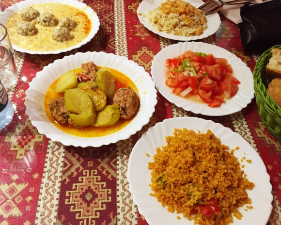 mercan - lamb meatballs, rice, bulgur and tomatoes