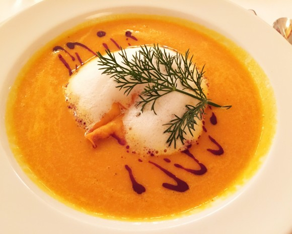 ottenthal - pumpkin soup with pumpkinseed oil
