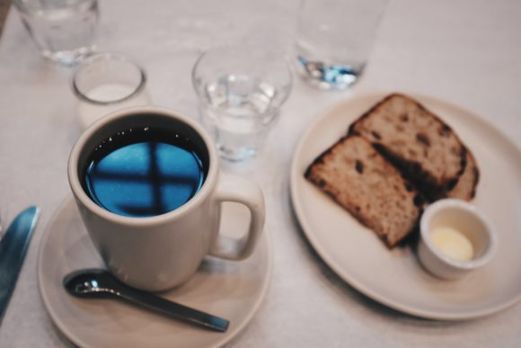 coffee and the most amazing bread